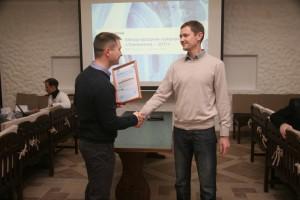 Вручение партнерского сертификата Дмитрию Миночкину из компании «Балтавтоматика»