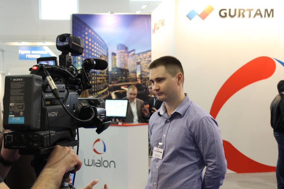 Алексей Щурко дает интервью СМИ