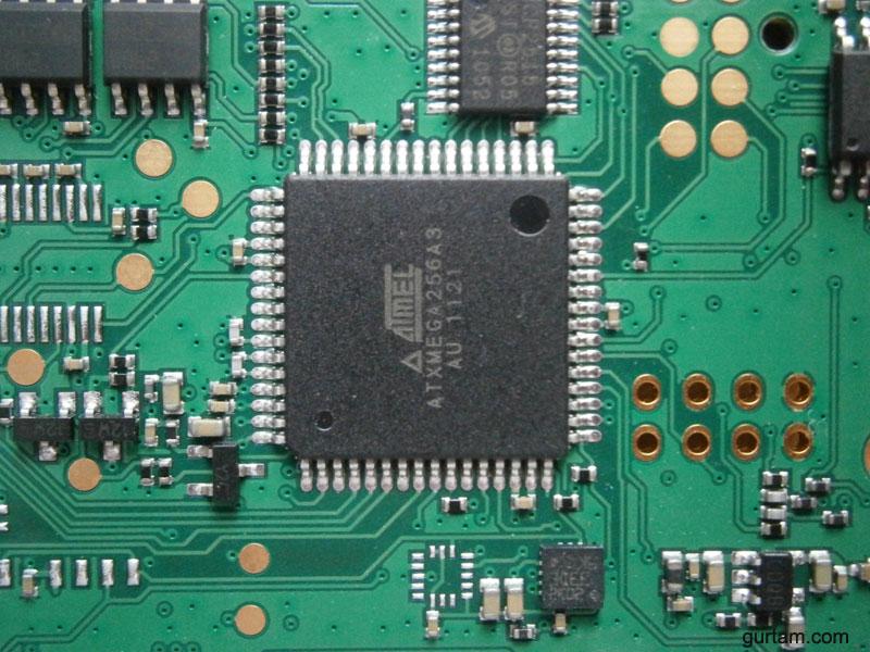 Микроконтроллер ATxmega256A3 в BCE FM Blue