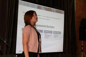 Выступление специалиста по работе с партнерами компании Gurtam Валентины Бабкиной
