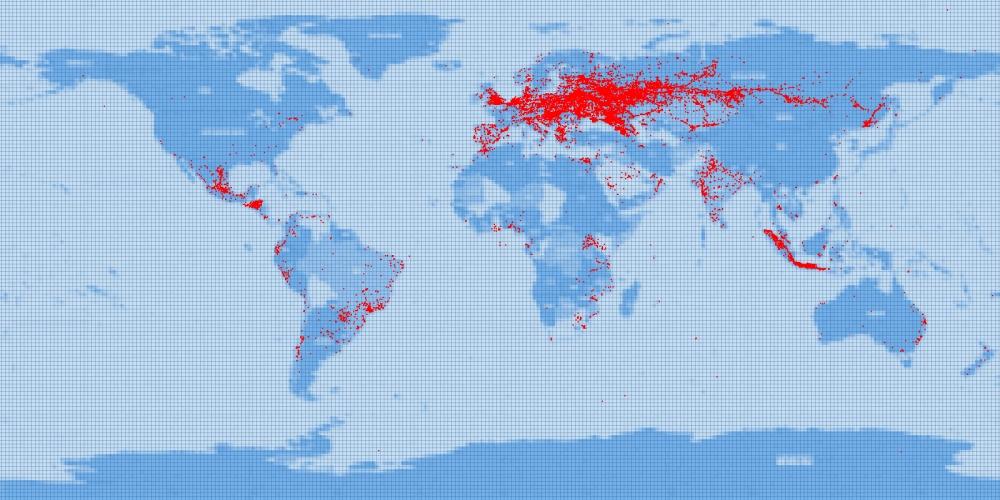 Карту положения объектов мониторинга на связи с серверным центром Wialon