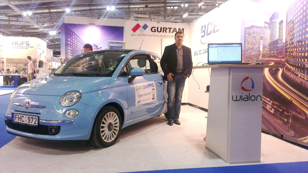 Gurtam and BCE exhibition stand