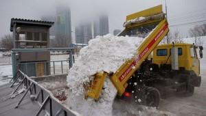 Снегоуборочная машина, оборудованная системой GPS мониторинга