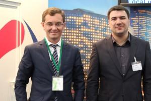 Роман Билле, генеральный директор компании Standard, на стенде Gurtam