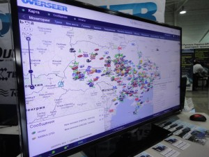 Visitors could personally appreciate the work of Wialon Pro GPS tracking software solution