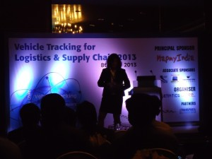 Wialon software solutions presentation during Vehicle Tracking for Logistics & Supply Chain 2013 conference in India