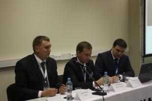 Participants of Gurtam press-conference: Sergey Kozlov, Roman Bille and Evgeny Koren