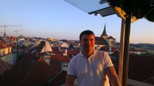 Evgeny Koren, Gurtam business development manager, after the official part of Pointer Telocation seminar in Prague