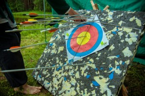 Archery practice during Gurtam corporate party