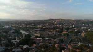 Bird's eye panorama of Tbilisi