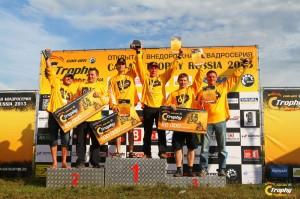 Награждение победителей второго этапа Открытой внедорожной квадросерии Can-Am Trophy 2013
