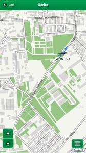 Мобильная версия системы мониторинга Yollar.az