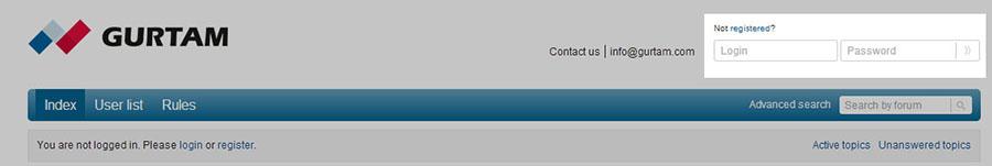 Удобная навигация. Теперь авторизоваться на форуме можно с любой его страницы.