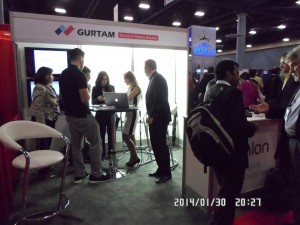 Gurtam team, actively working at М2М Evolution Conference&Expo 2014