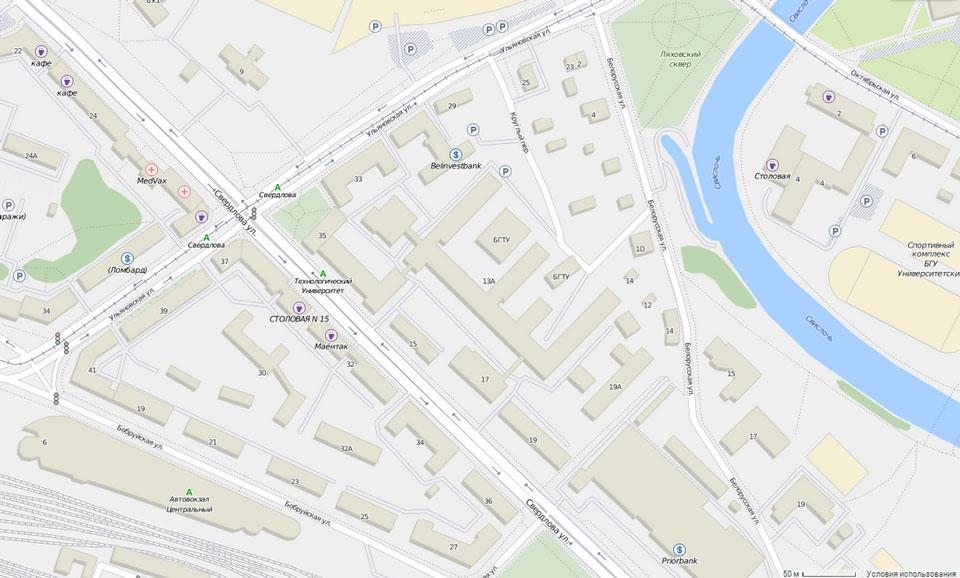 В обновленных Gurtam Maps появилась цветная карта административного деления и псевдотрехмерность зданий