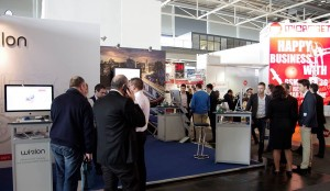 Active working at Gurtam stand during CeBIT 2014