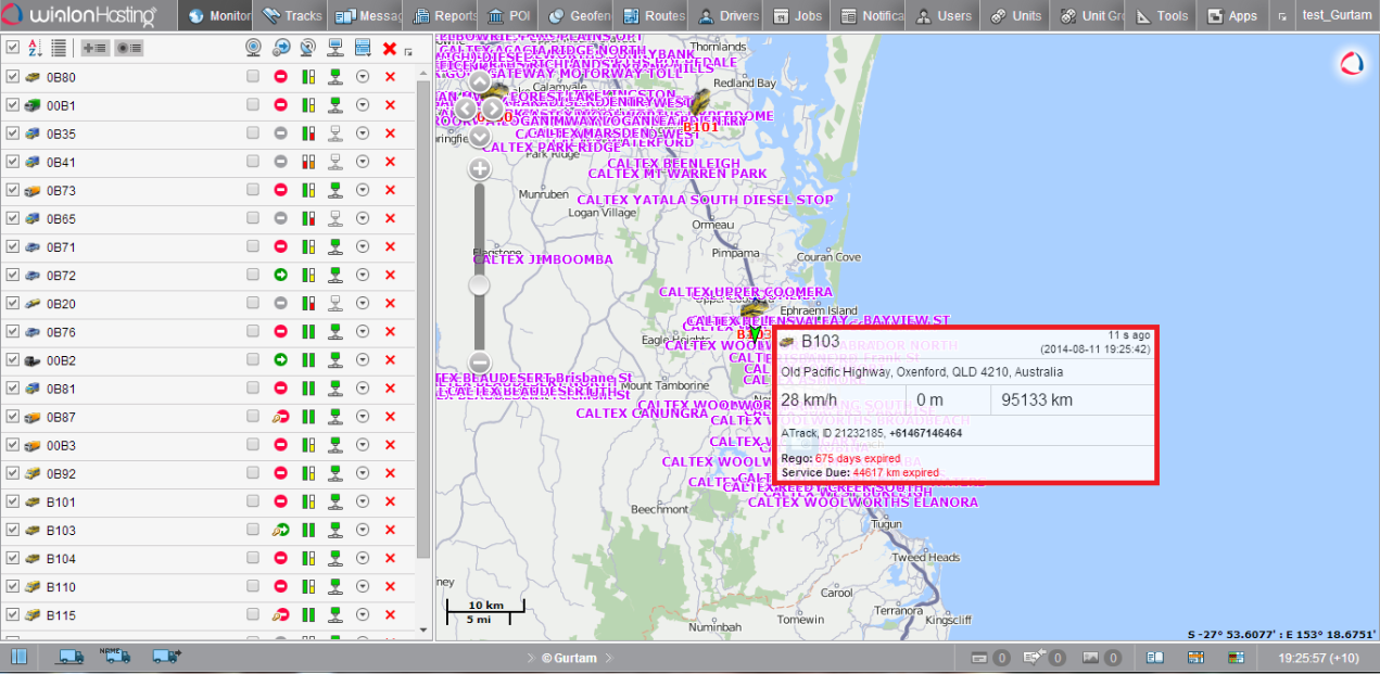 Now the all the popups for units, POI, geofences and tracks became much more informative and convenient