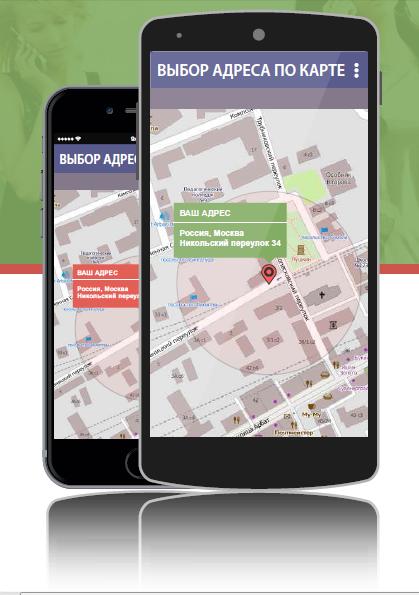 Внешний вид приложения для смартфонов клиентов «Кнопка»