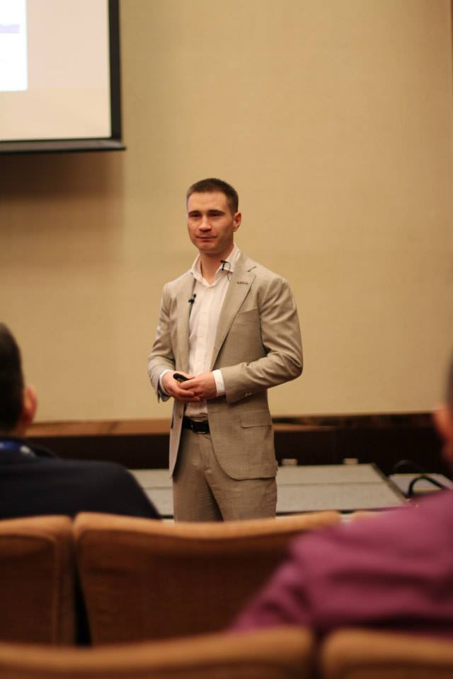 Gurtam CEO Aliaksei Shchurko opens Telematics 2014. Minsk conference