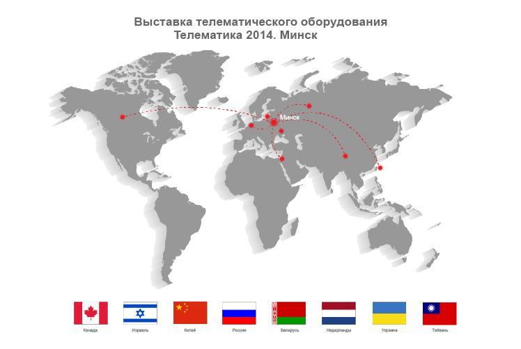 География стран-участниц выставки