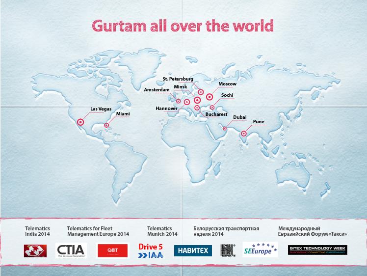 Gurtam all over the world