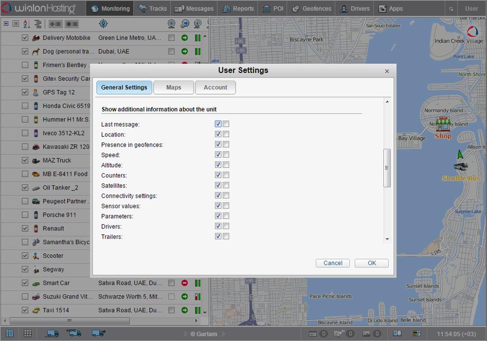 Use ctrl+click in unit settings