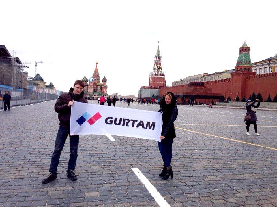 Флаг Gurtam на Красной площади