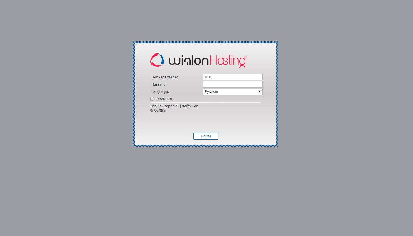 Стандартный Wialon