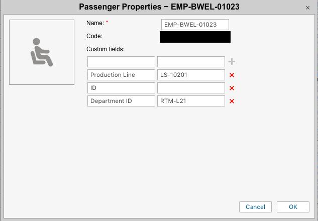 Passenger Properties-example